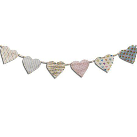 Double Sided Cotton Heart Bunting