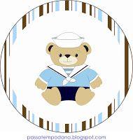 Passatempo da Ana: Mini Kit:Ursinho Marinheiro