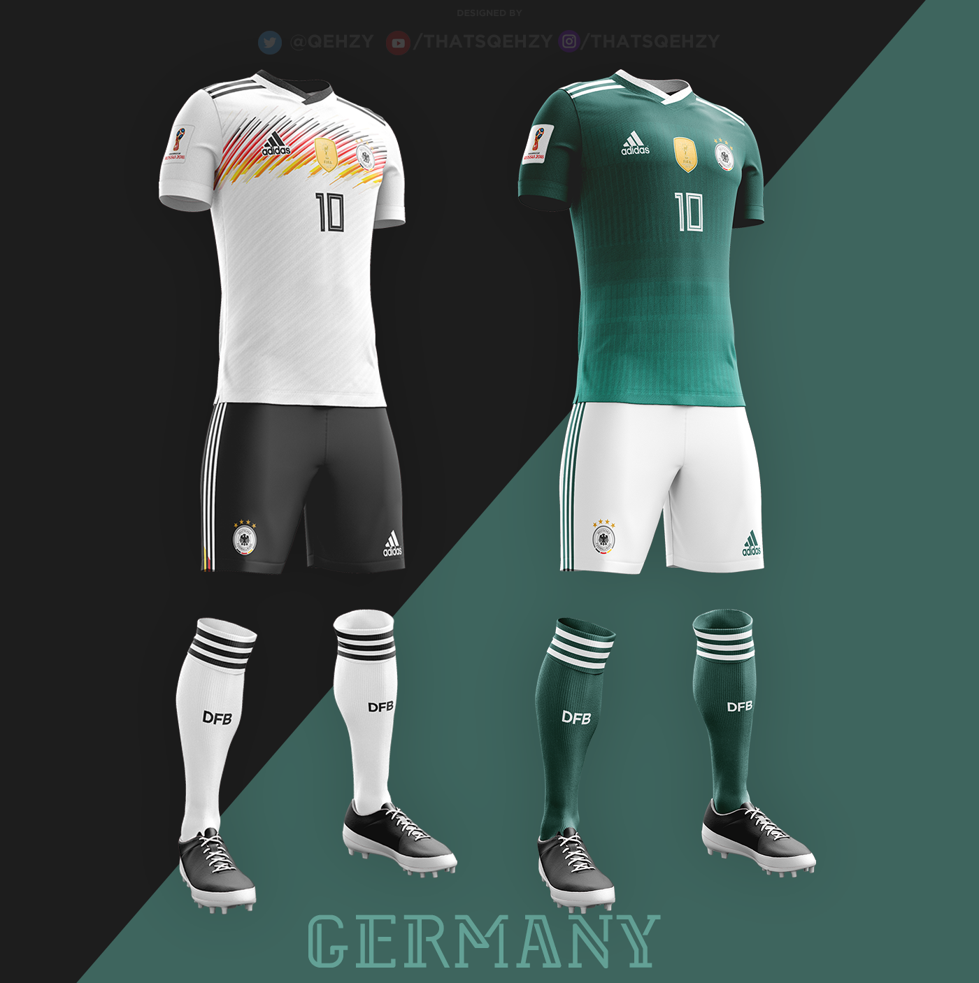 Fifa World Cup 2018 Kits Redesigned On Behance In 2020 Soccer Uniforms Design World Cup Fifa Football