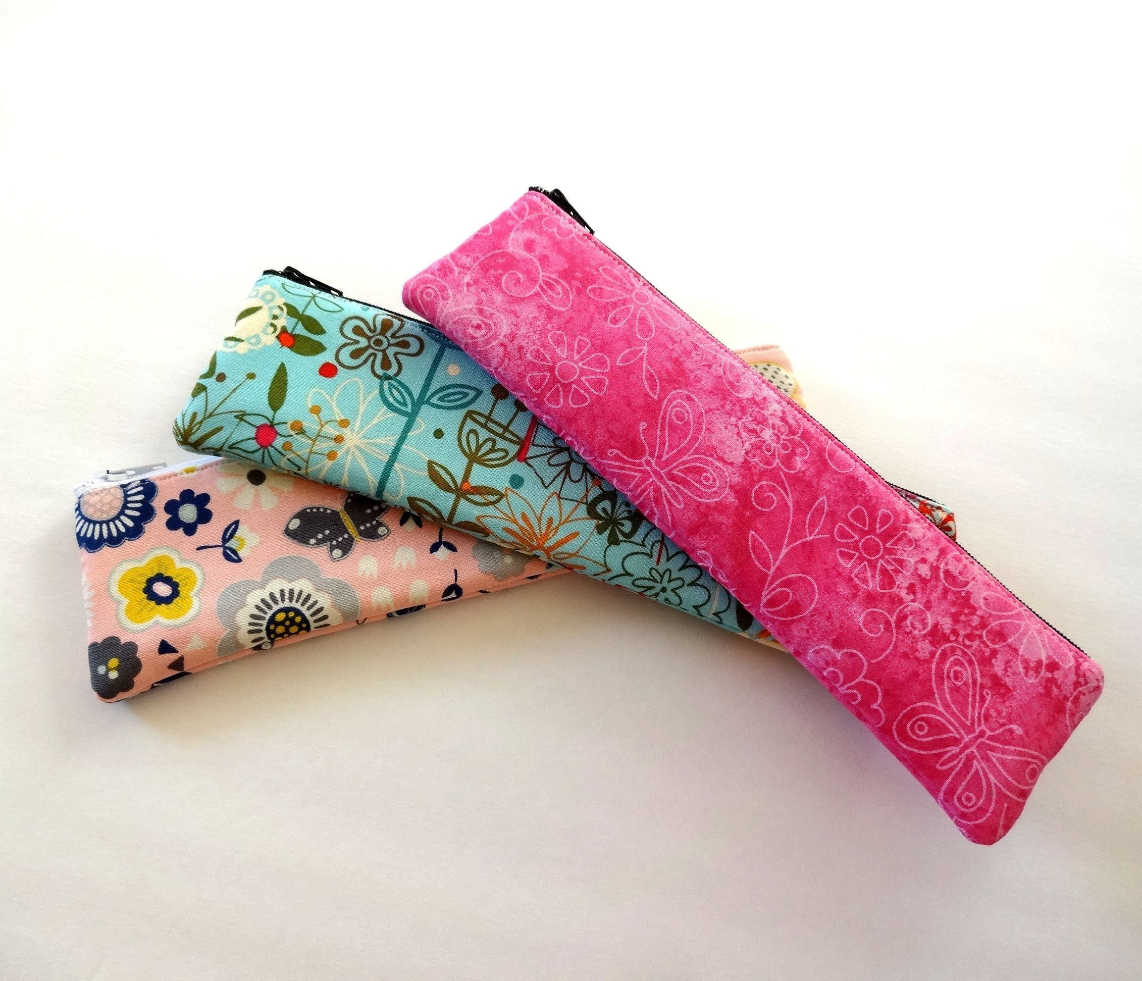 Makeup Brush Holder, Slim Pencil Case, Small Cosmetic Bag
