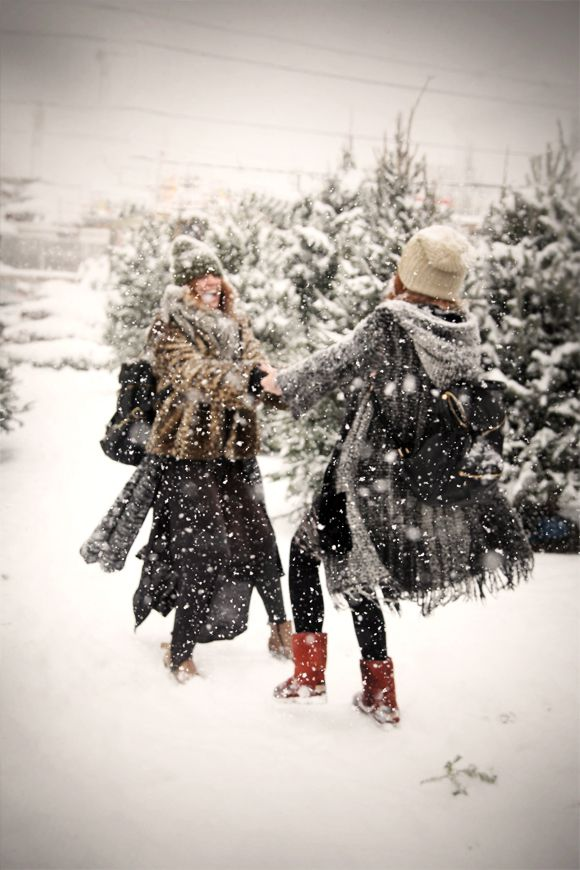 Dancing in the snow!