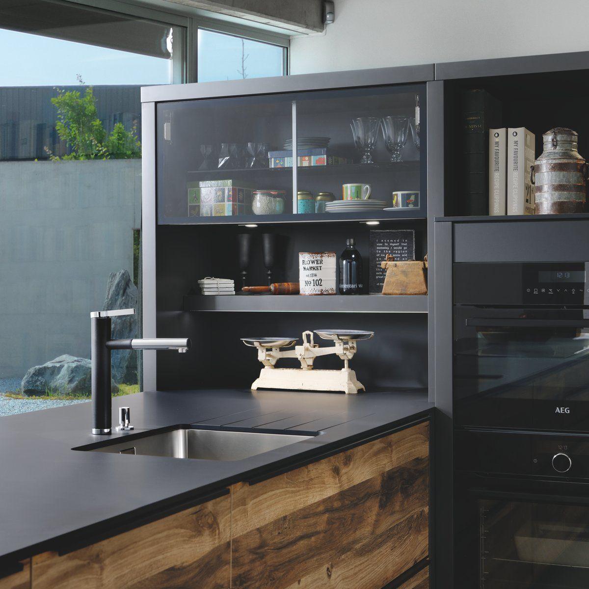 Cuisine Noire Plan De Travail Blanc: Plan De Travail Compact Fenix NTM
