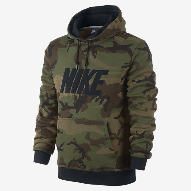 Nike Club Woodland Camo Pullover – Sweat à capuche pour