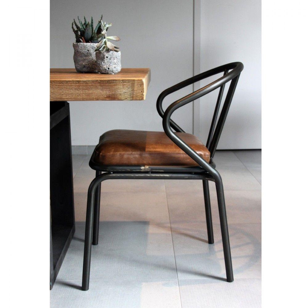 Waldorf 2 Chaises Vintage En Metal Chaise Vintage Chaise Cuir Chaise Salle A Manger