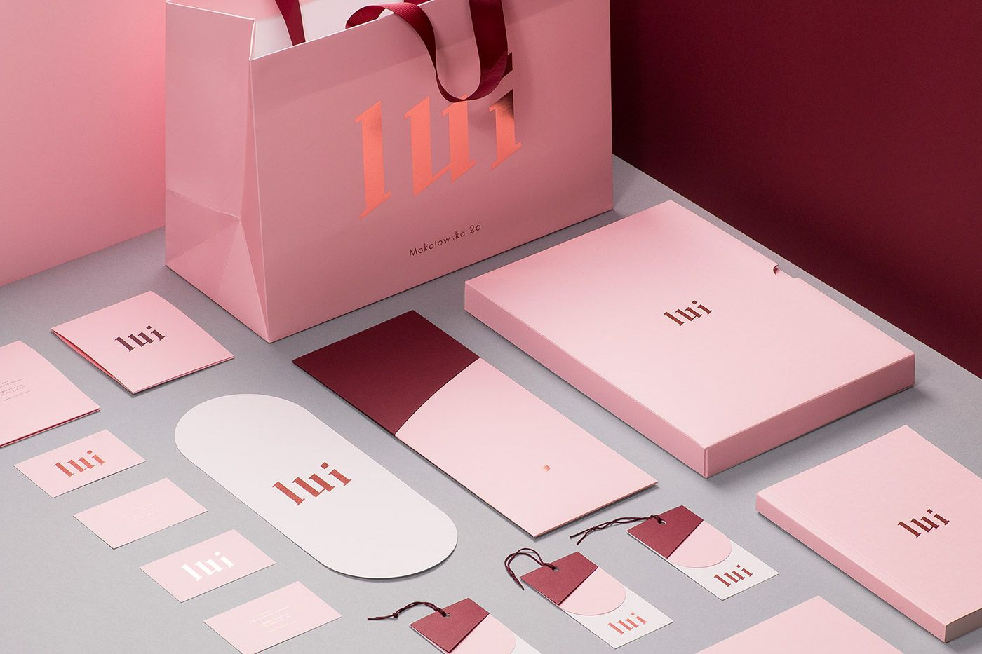 Design and Paper | 21 Branding Concepts Using Millennial Pink ...