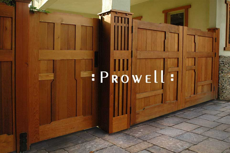 Prowell's Craftsman Driveway Gates #26 In Bel Air, CA