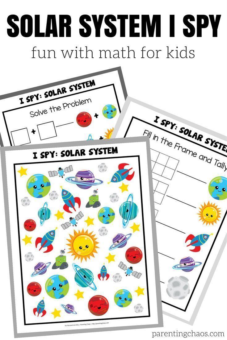Solar System I Spy Math | Math skills, Solar system and Spy