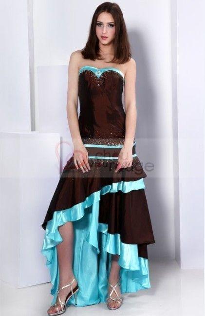 Robe de soirée bustier à la jupe irregulière 111 http//yesidomariage.com