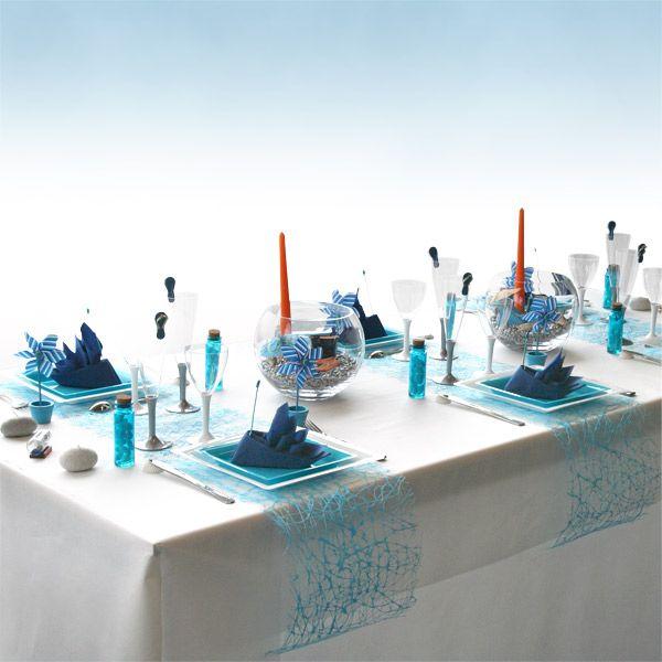 table orange turquoise blanc mariage turquoise. Black Bedroom Furniture Sets. Home Design Ideas