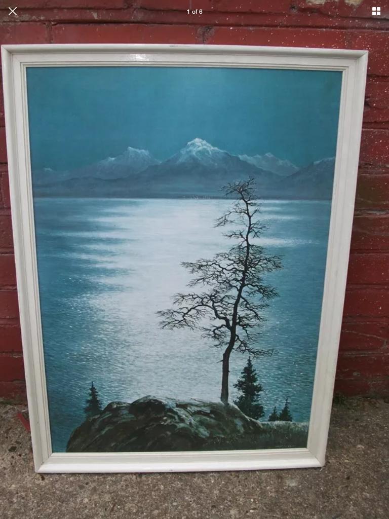 Eric Tansley moonlight across the lake