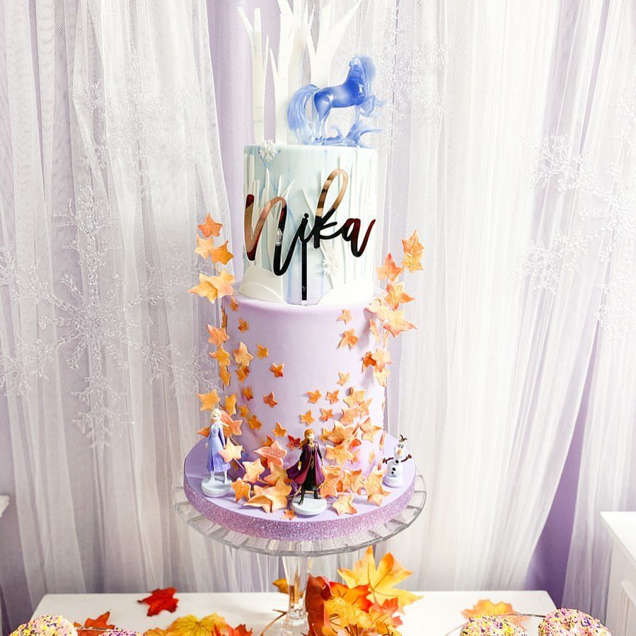 Frozen 2 Themed Birthday Cake for Nika's 5th Birthday