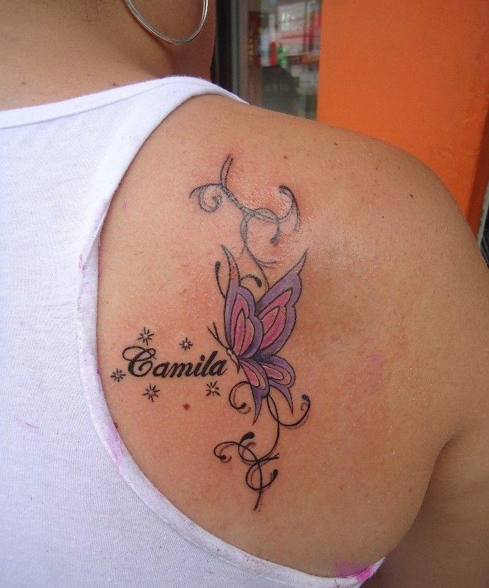 Mariposa Nombre De Hijo Firuletes Y Destellos Tatuajes