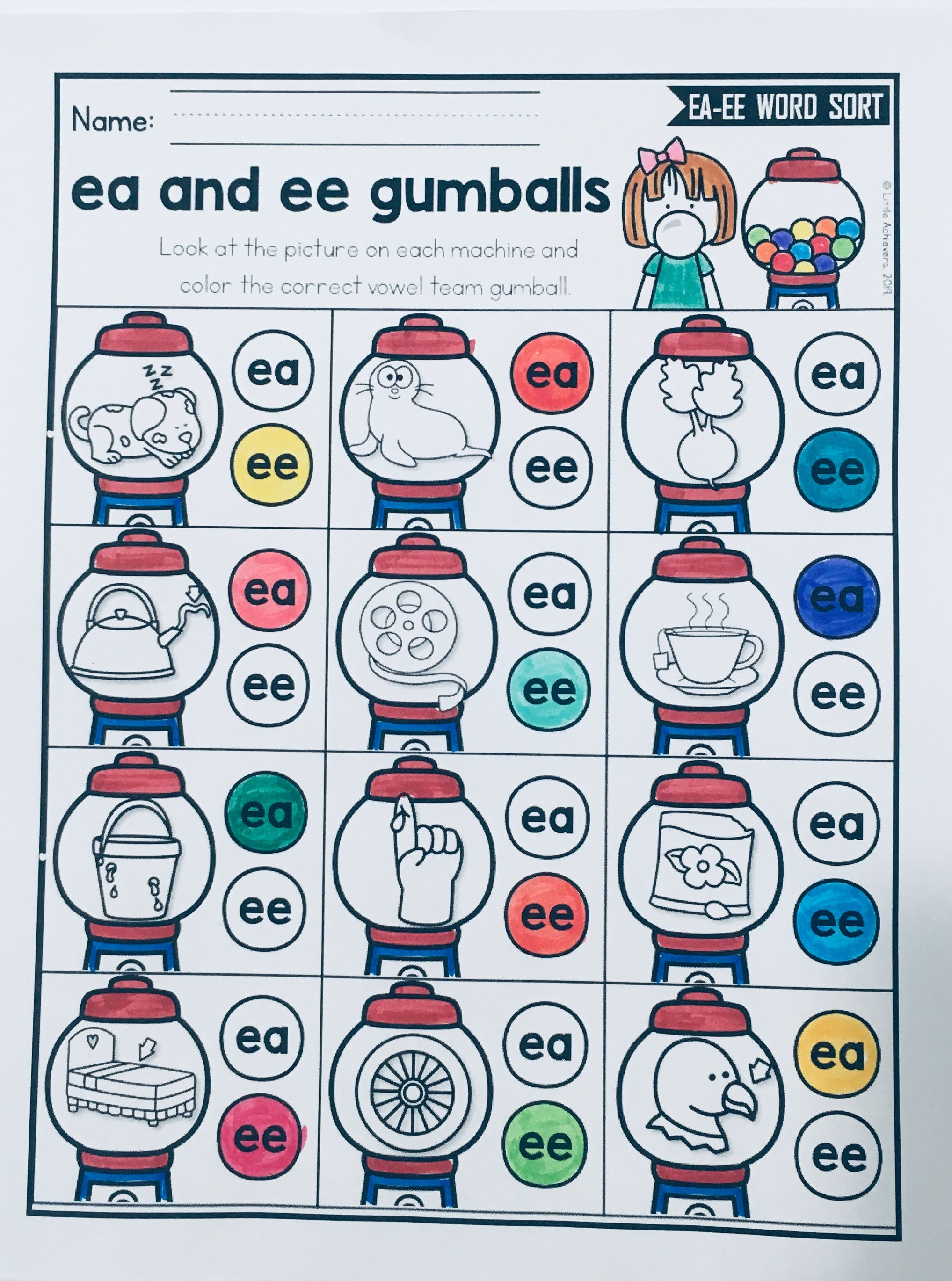Vowel Teams Worksheets Ee And Ea Worksheets And