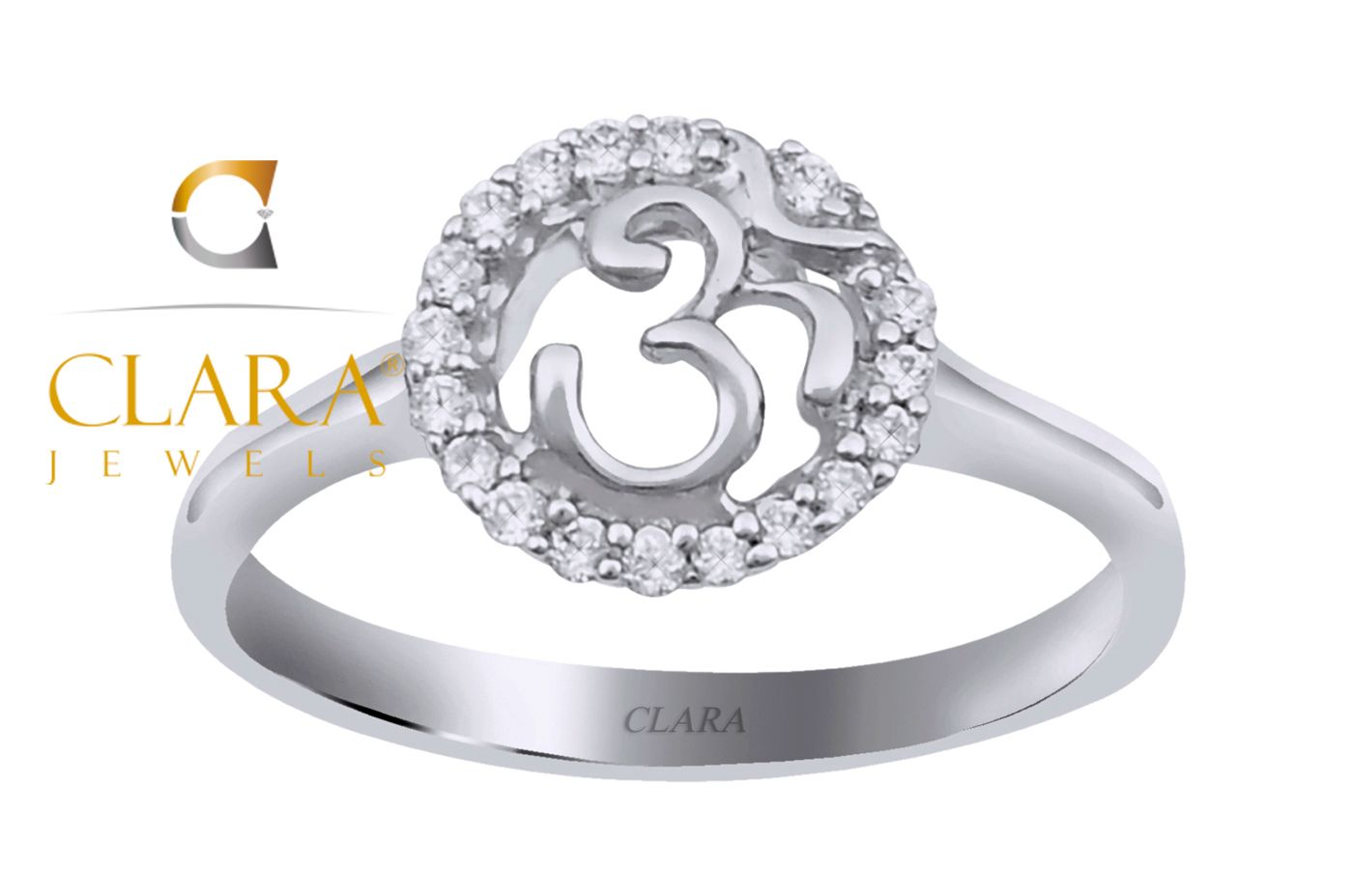 38a2d4507d20c Om Sterling Silver Swarovski Ring - CSWZR89 #silver rings for women ...