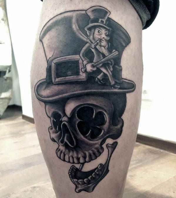 50 Leprechaun Tattoo Designs For Men - Irish Folklore Ink Ideas