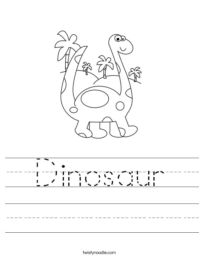 dinosaur Worksheets – Dinosaur Worksheets for Kindergarten