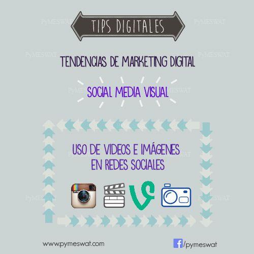 """#TipsDigitales """"Tendencias del marketing digital.  Social Media Visual:  las empresas encontraron en el contenido visual una herramienta para llegar de manera más efectiva al público. Fuente: Merca2.0 #MarketingDigital #SocialMedia #RedesSociales #PublicidadOnline"""
