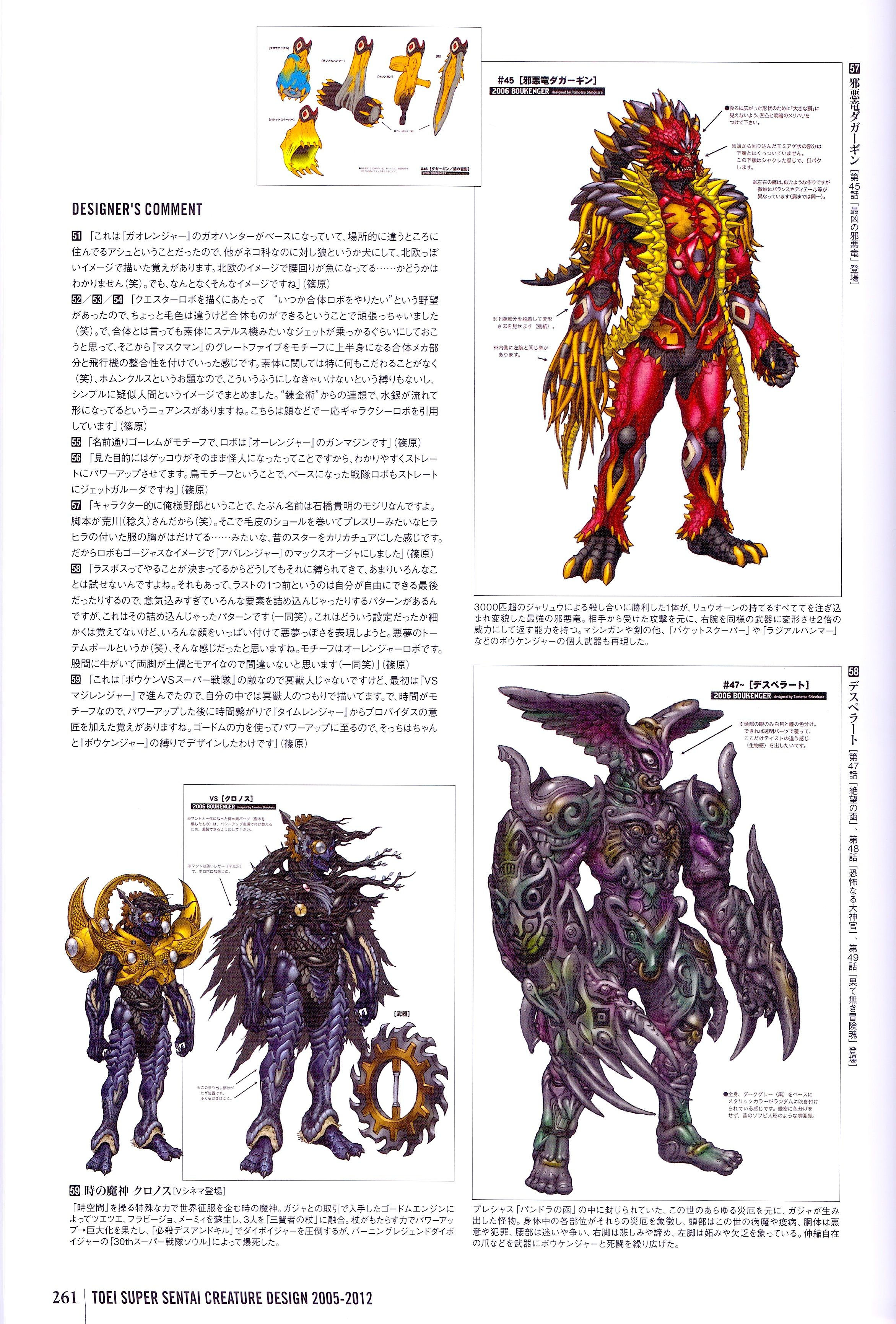 Kaiju History 2006 Boukenger | Character concept in 2019