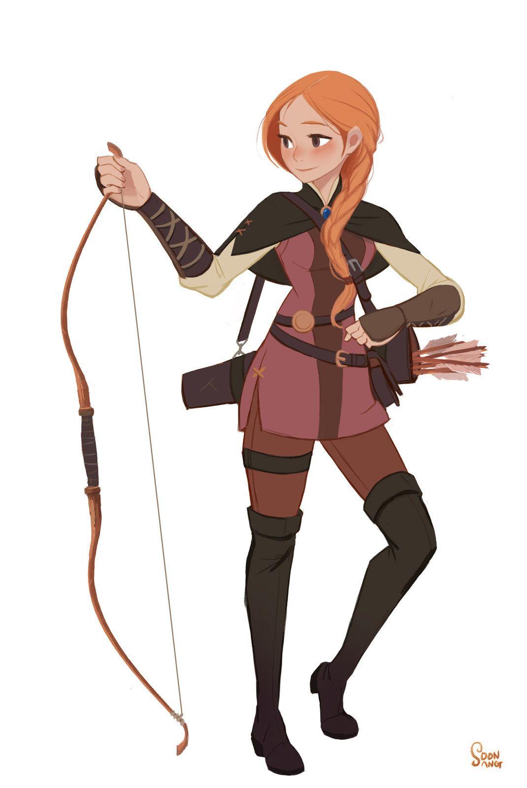 Female Cartoon Characters 80s : Personal project robin hood soon sang hong on