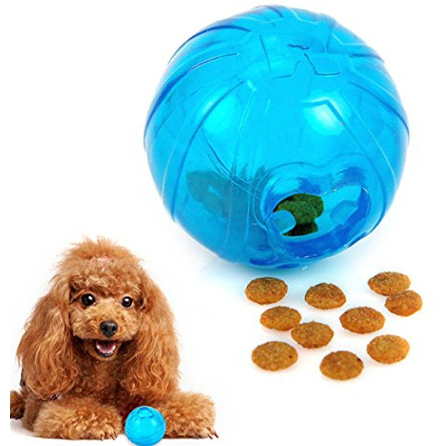 Food Dispensing Dog Toy Interactive Dog Chew Toys TPR Ball for