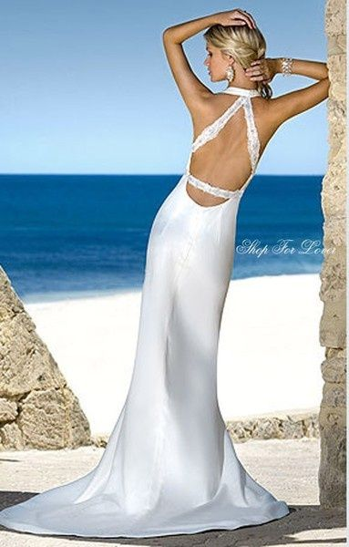 beach-open-back-wedding-dresses - Wedding Ideas, Wedding Trends, and Wedding Galleries