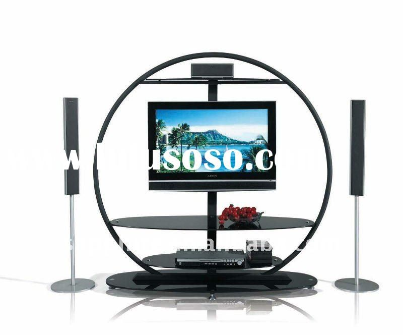 round LCD glass tv stand | Round Tv Stand | TV stands