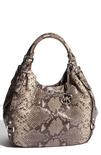 92996a52596e MICHAEL Michael Kors 'Bedford - Large' Python Embossed Hobo available at  Nordstrom