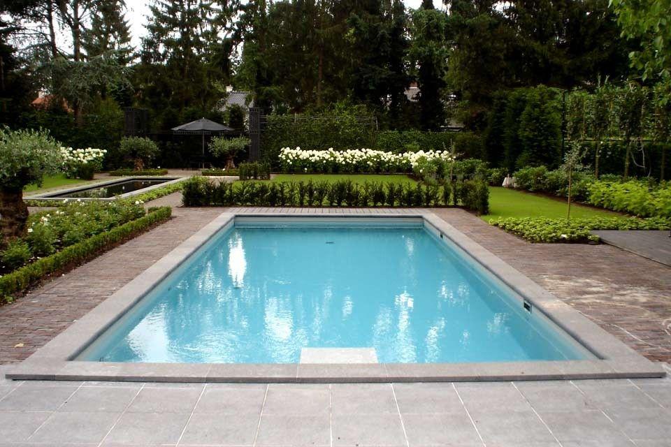 Zwembad inbouw build in swimming pool zwemmen for Kostprijs polyester zwembad