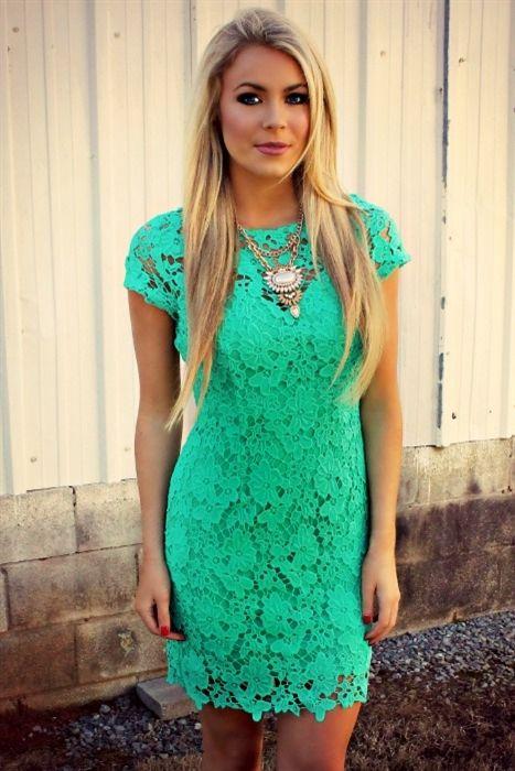 Boutique, Dresses, South Of Heaven Lace Dress - Jade
