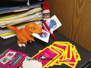 The Speech Elf playing with some @Super Duper Publications cards :)