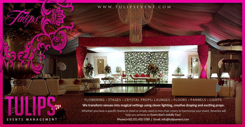 Beautiful Pakistani Wedding Reception Stage Design