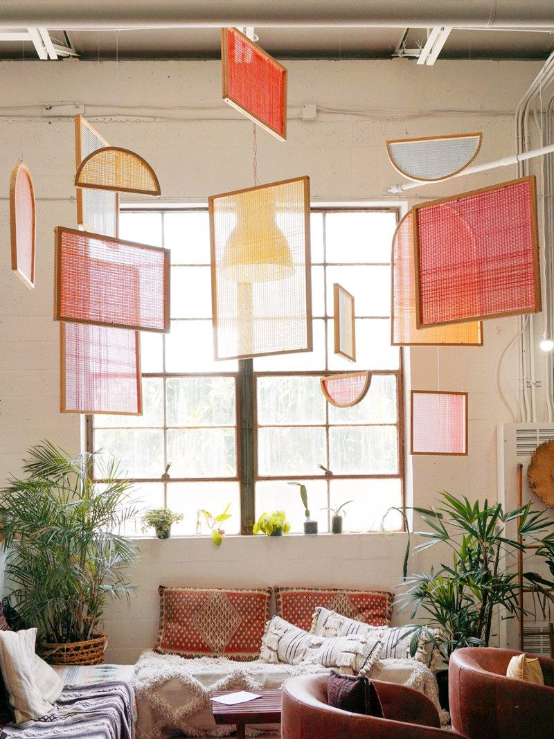 This Diy Wall Art Idea Is Made Of Just Wood And Colorful Yarn