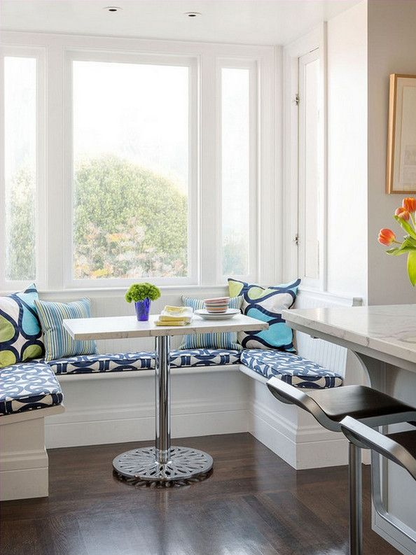 breakfast kitchen erin dining images gilmore nooks studio white nook turquoise rooms best small kitchens design on bench pinterest