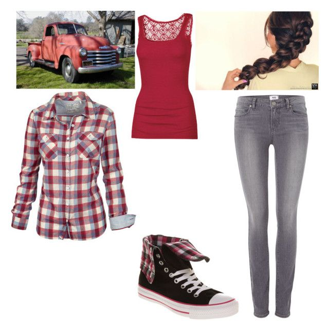 """Car wash! Eve Swan"" by selenerose-328 ❤ liked on Polyvore featuring Fat Face, B. Ella, Disney, Paige Denim and Converse"