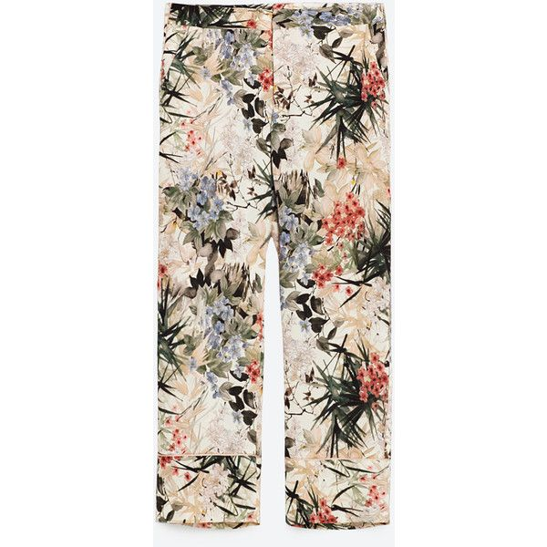 Pajama Style Floral Printed Trousers View All Trousers Woman Zara United Kingdom Floral Prints Printed Trousers Zara