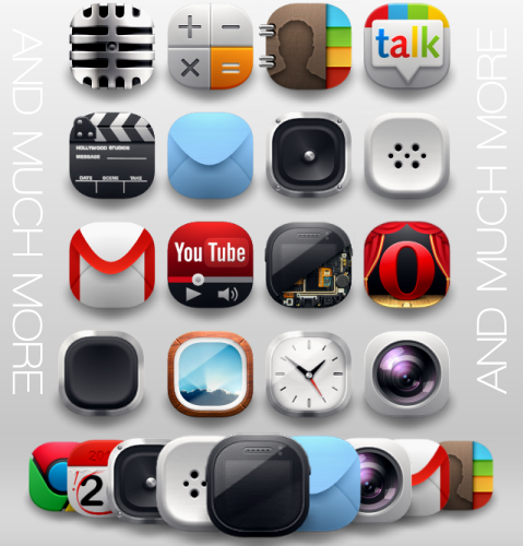 Modern Android Icons Pack android icons by shorty91