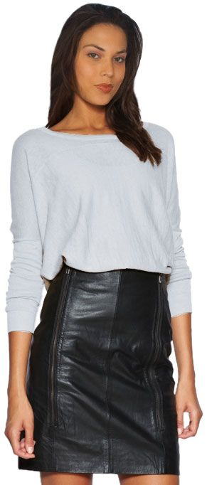 Stunning High-Waisted Leather Skirt For Women | leather skirts ...
