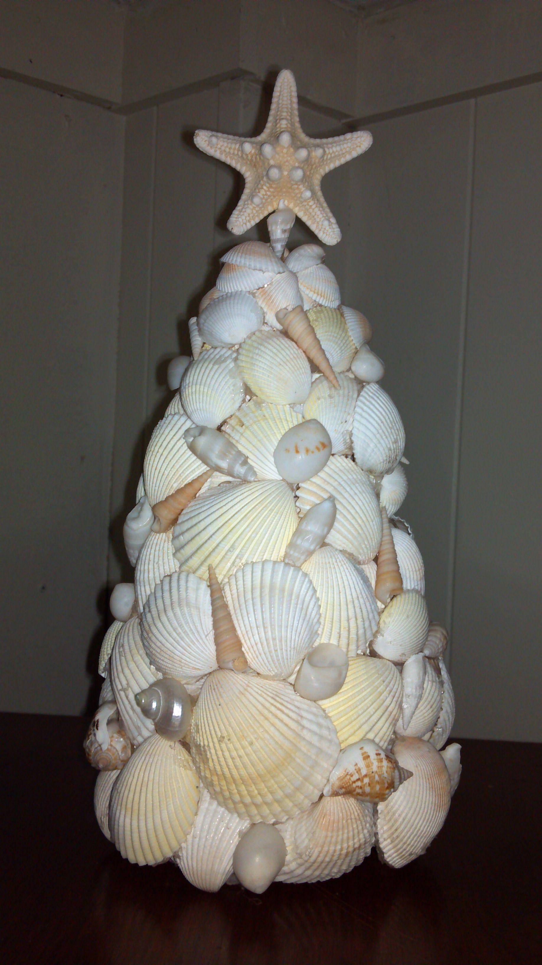 Sea Shell Christmas Tree Com Imagens Criatividade Conchas