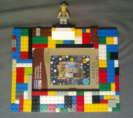Lego picture frame for our Legoland pic :)