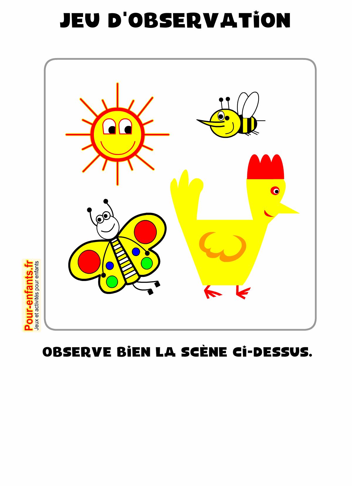 Jeux à imprimer jeu d'observation gratuit enfants ps ms gs | VACANCES | Jeux a imprimer, Jeux ...