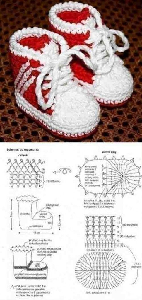 Patucos_de_bebe-como-converse | All kinds of crafts | Pinterest ...