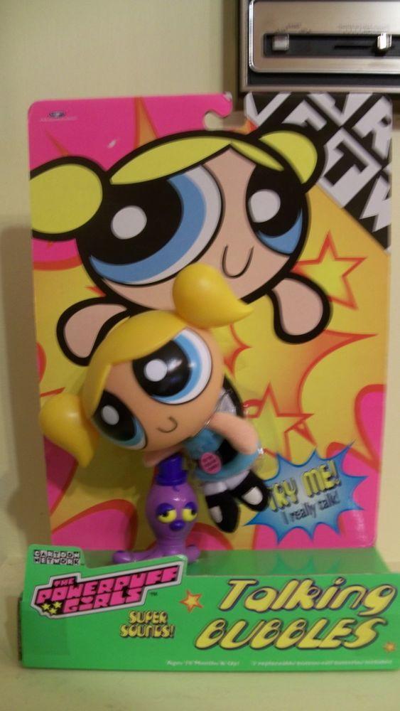 Cartoon Network Toys : Powerpuff girls talking bubbles action figure doll cartoon