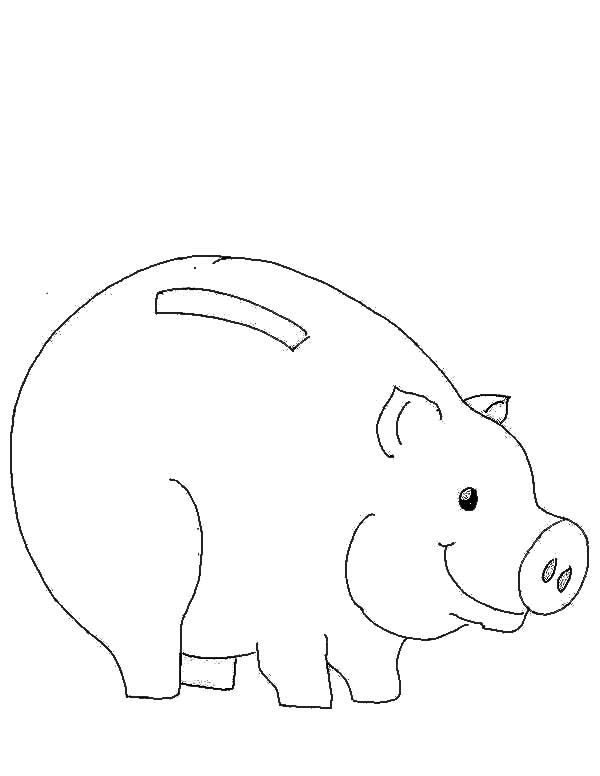 Picture Of Piggy Bank Coloring Page Color Luna Coloring Pages Piggy Piggy Bank