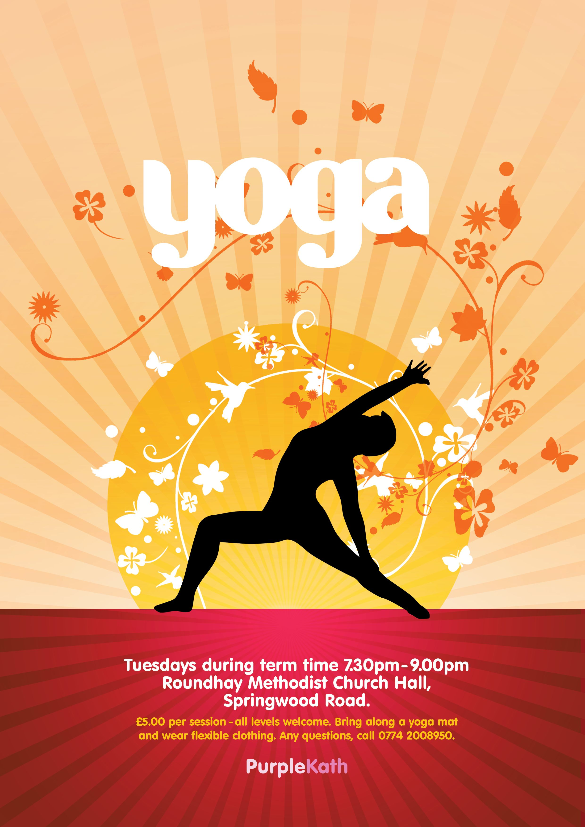 Posters Advertising A Local Yoga Class