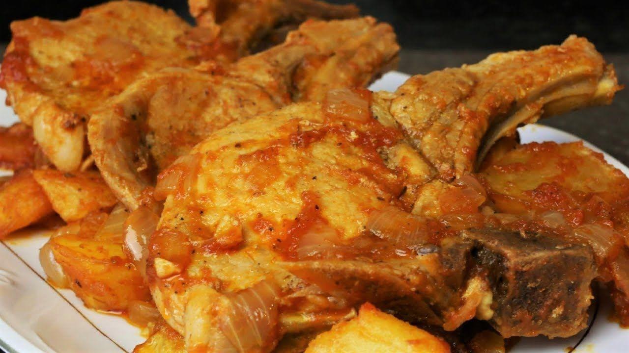 Chuletas De Cerdo A La Campesina Como Preparar Chuletas Recetas De Chuletas Cerdo En Salsa