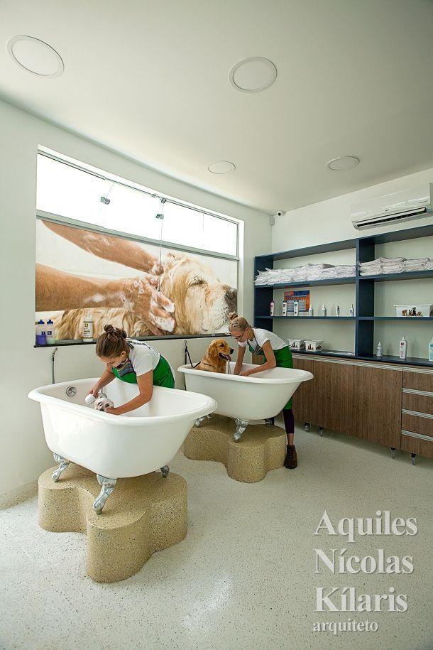 Resultado de imagem para best pet shop with bath wash room pinterest toilettage - Le salon de toilettage petshop ...