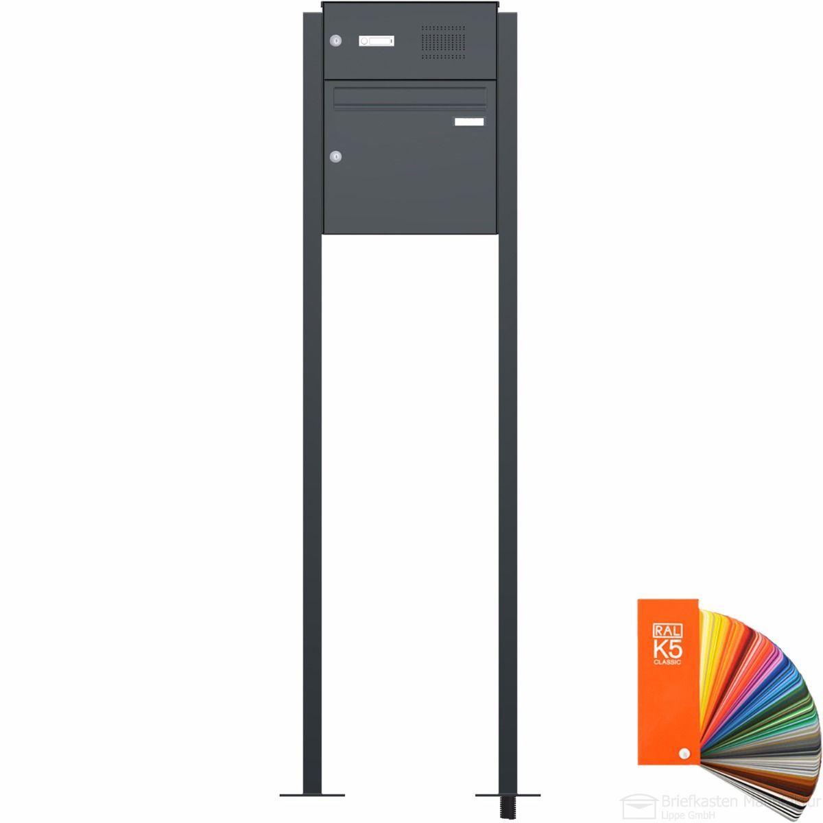 Briefkastenanlage CLASSIC freistehend 1 Parteien 536 SP in RAL Farbe Klingel Sprechstelle wahlweise
