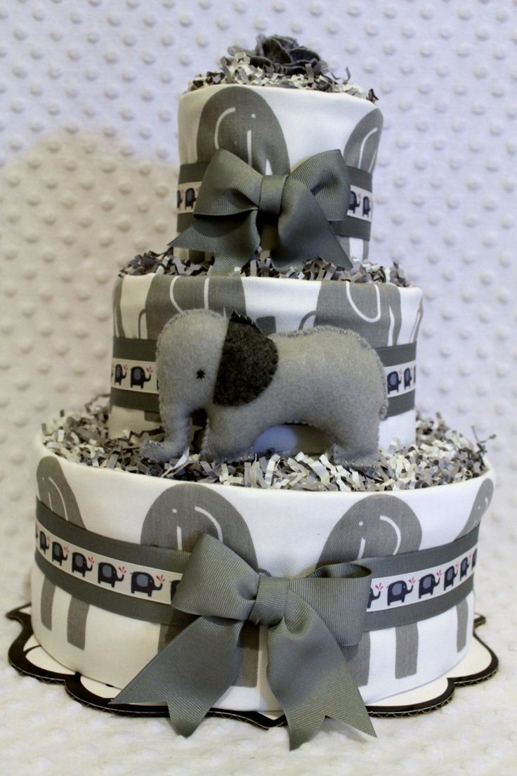 Is this a black and white photo because im finding the grey baby diaper cake elephants gray pink navy black or green shower gift negle Image collections