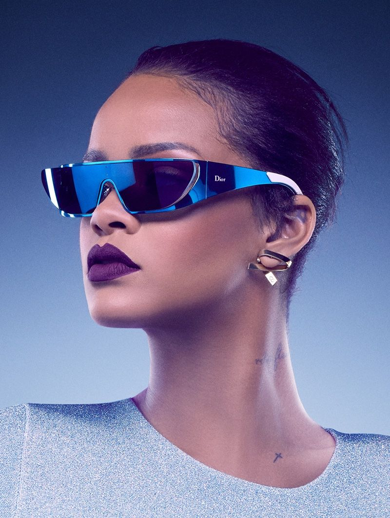 f0e1d56b5df3 Rihanna wears sunglasses from upcoming Dior collaboration Campaign 2016