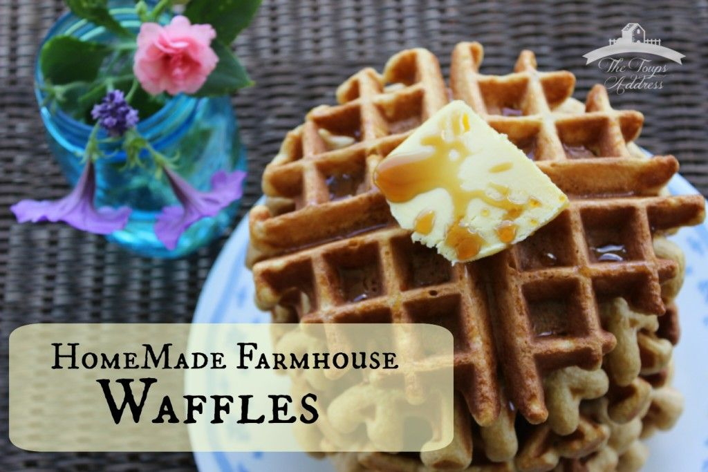 Make these crispy, fluffy homemade waffles for mornings on the go. Just double the batch and freeze!